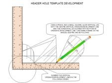 Header hole template fabeasy pipe template development transfer horizontal dimensions pronofoot35fo Choice Image